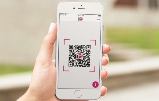 iDEAL-app met scannen van QR-code.