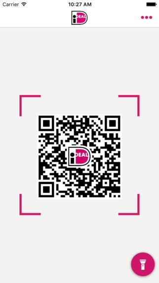 QR-code scannen via iDEAL-app.