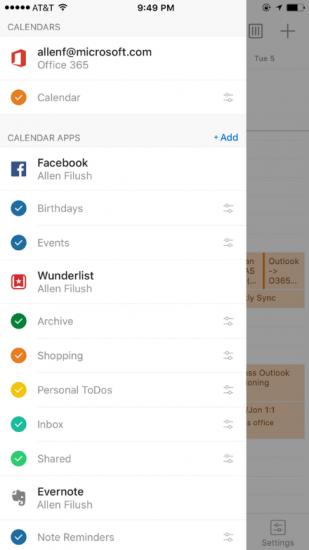 Outlook voor iPhone met Calendar-Apps.