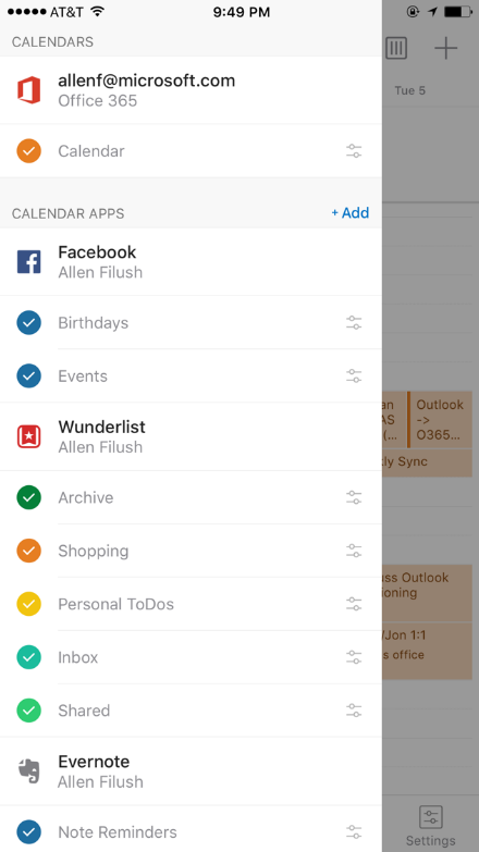 Outlook voor iPhone met Calendar-Apps.