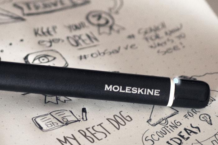 Moleskine-pen en notities