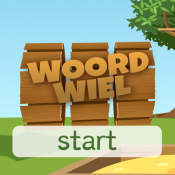 Woordwiel: startscherm van de app