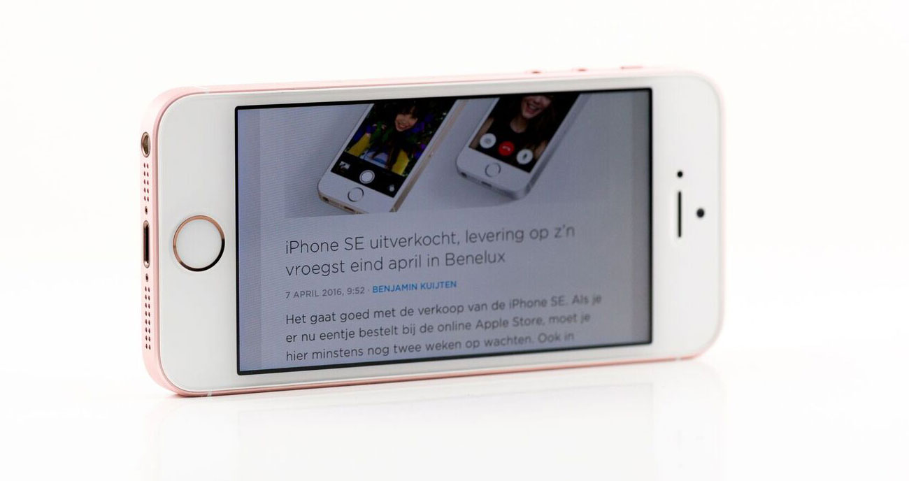 iPhone SE review iCulture: liggend met website