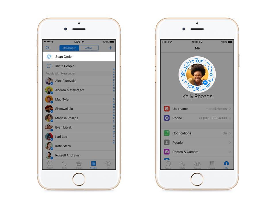 Facebook Messenger krijgt gebruikersnamen.
