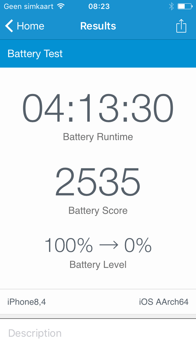 Geekbench batterijtest iPhone