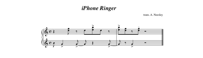 Marimba iPhone ringtone