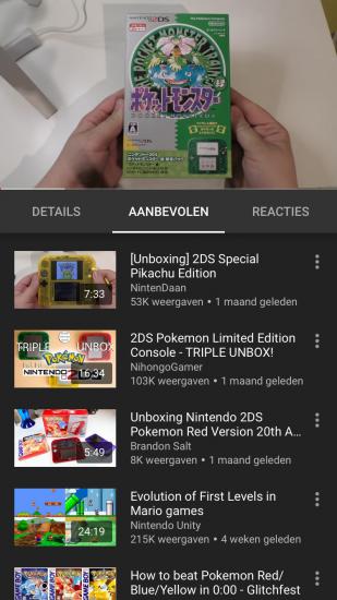 Een video bekijken in YouTube Gaming.
