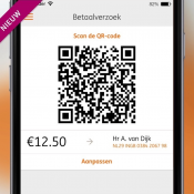 Betaalverzoek met ING Mobiel Bankieren met QR-code.