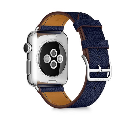 Apple Watch Hermès Simple Tour donkerblauw.