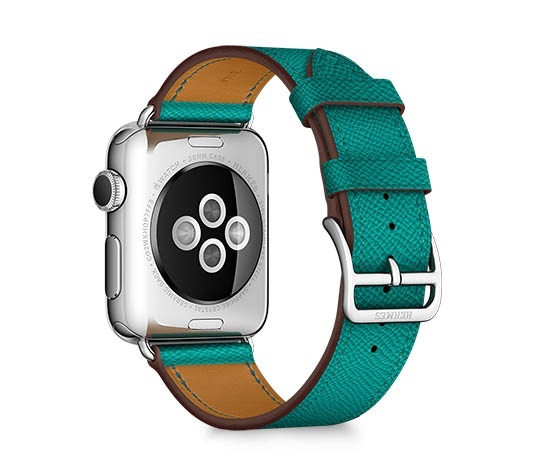 Apple Watch Hermès Simple Tour blauw groen.