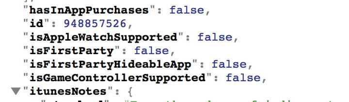 iTunes-code wijst op de mogelijkheid om standaard apps te verbergen.