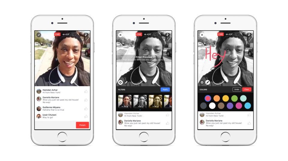 Facebook Live krijgt filters om je livestream op te leuken.