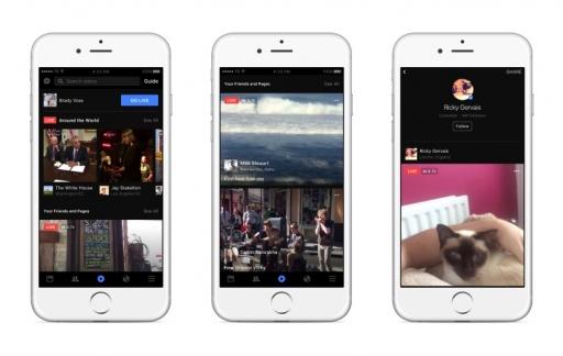 Facebook Live krijgt een apart onderdeel in de Facebook-app.