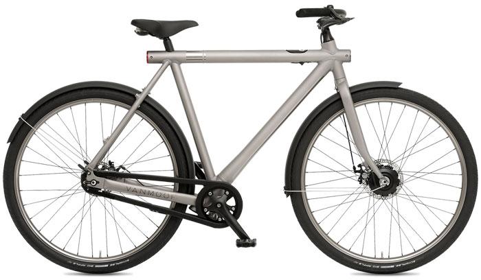 VanMoof fiets in zilverkleur
