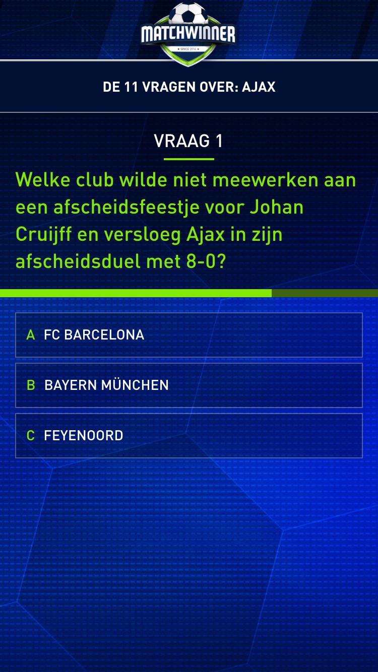Matchwinner-vraag over Johan Cruijff.