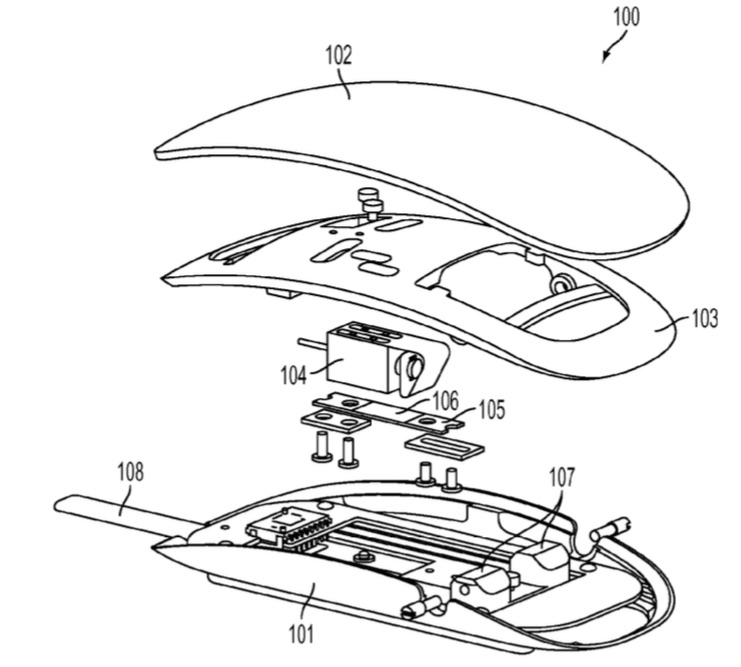 Magic Mouse met Force Touch in een patent.