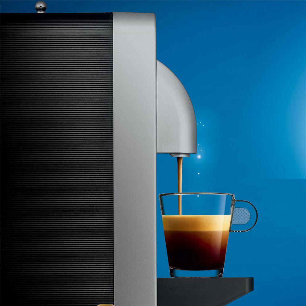 Nespresso Prodigio van de zijkant gezien