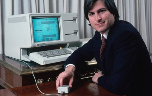 Steve Jobs met Lisa-computer