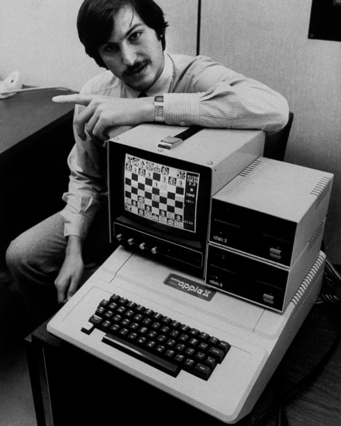 Steve Jobs met Apple II