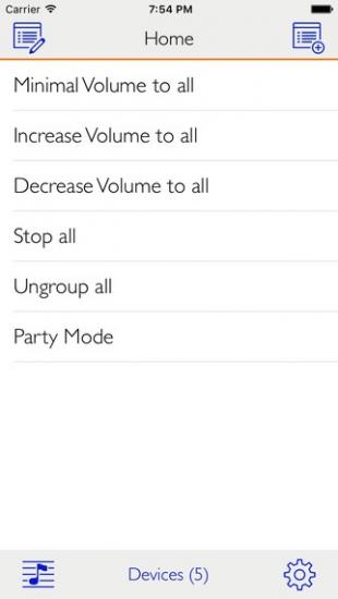 Beginscherm van SonoSequencer voor de iPhone.