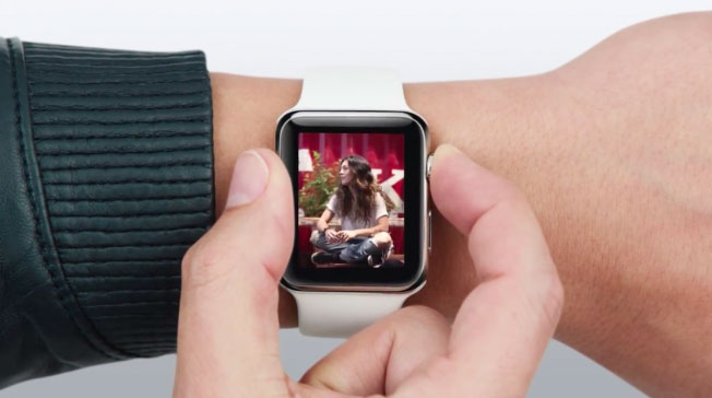 Apple Watch handen
