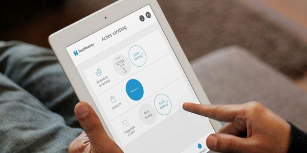 iPad met ThuisMeten-app