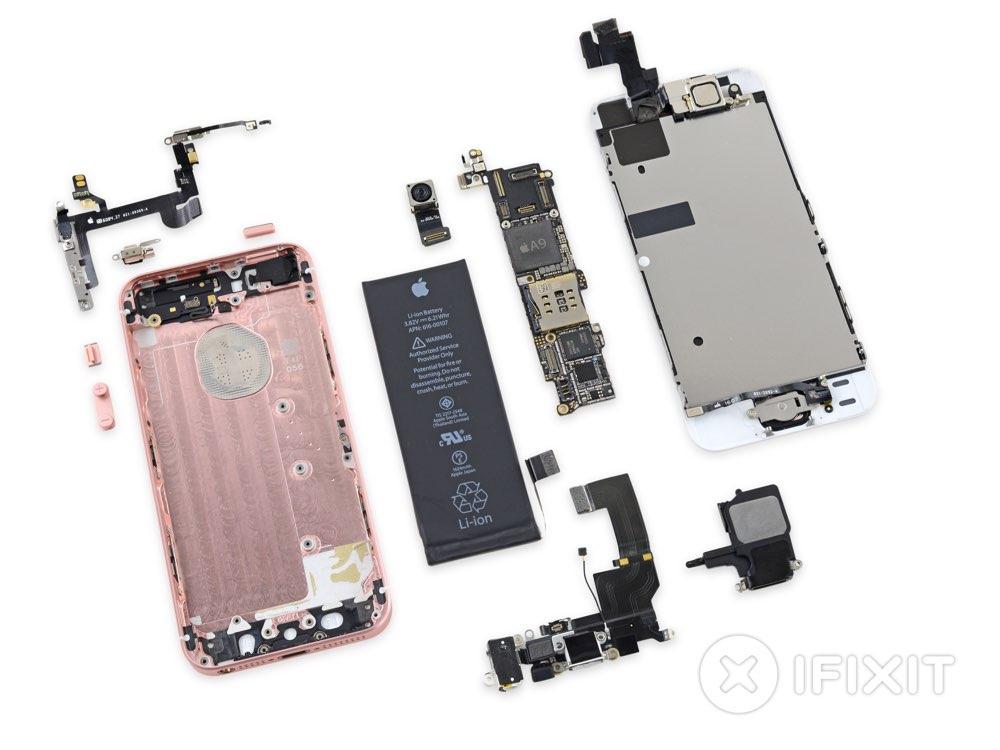 Teardown van iFixit van de iPhone SE
