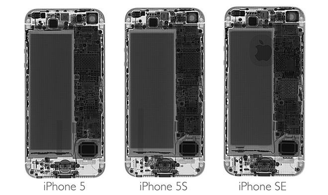 iFixit teardown iPhone SE: vergelijking met andere modellen