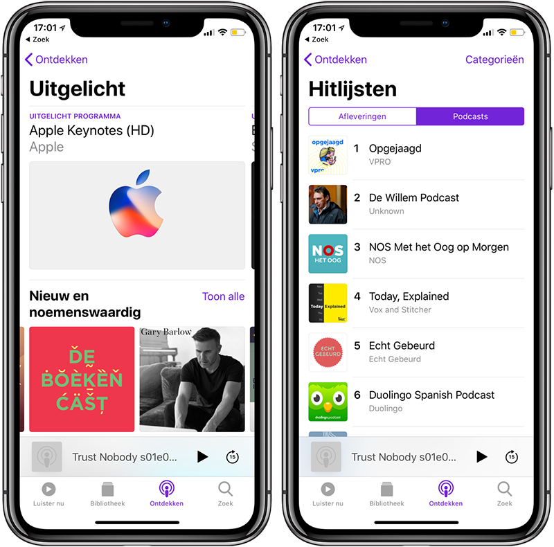 Podcasts vinden