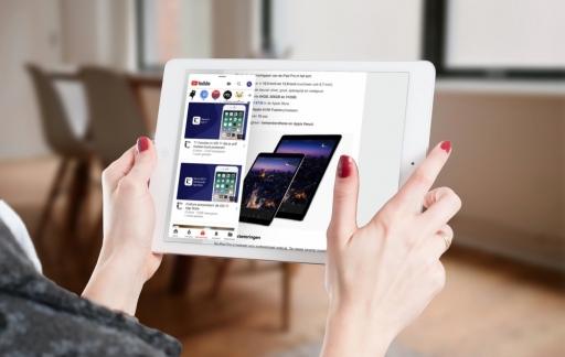Slide Over op de iPad met iCulture-app.