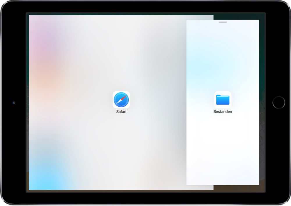 Split View op de iPad instellen.