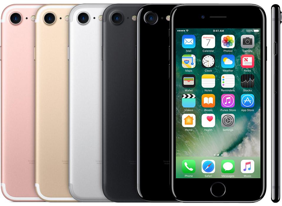iPhone 7 in kleuren.