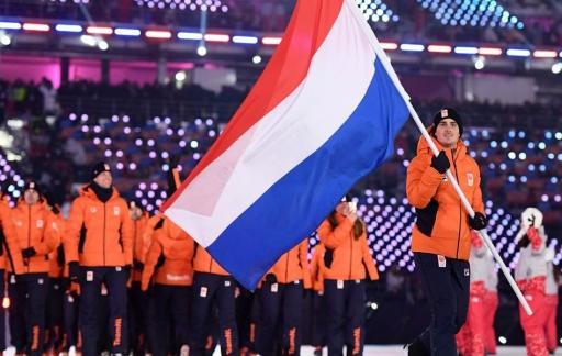 Jan Smeekens tijdens opening PyeongChang 2018 (foto via @TeamNL)