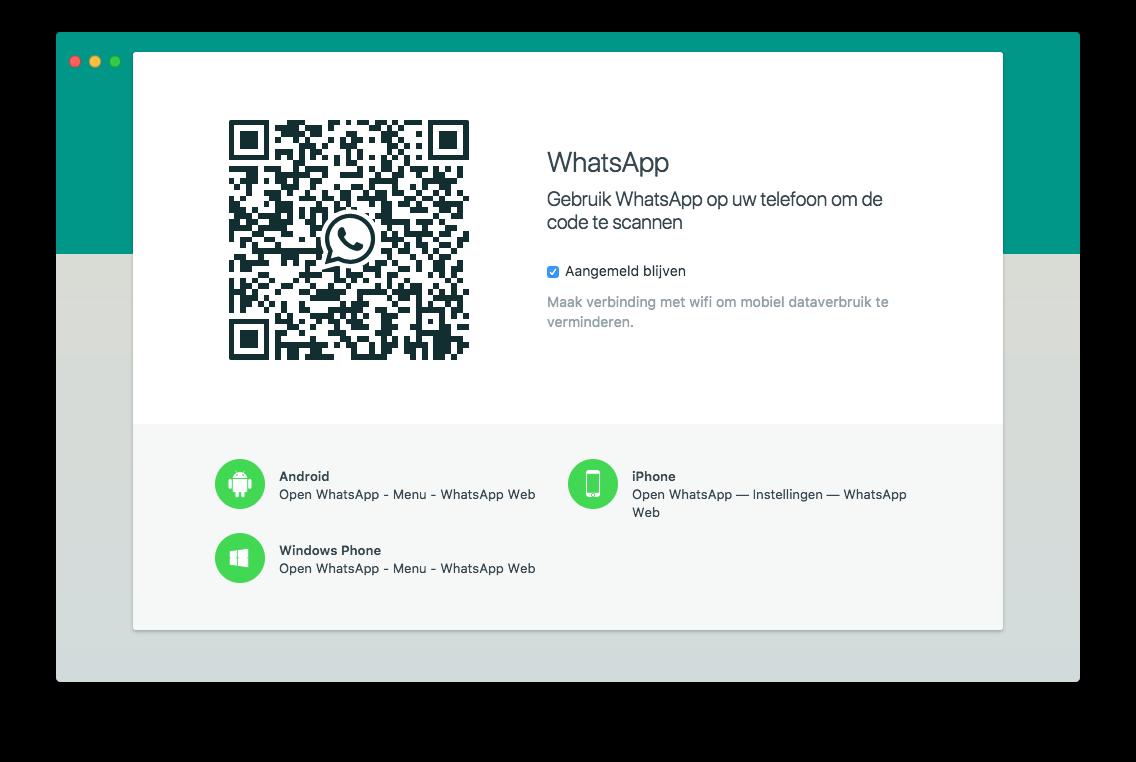 WhatsApp op de desktop installeren.
