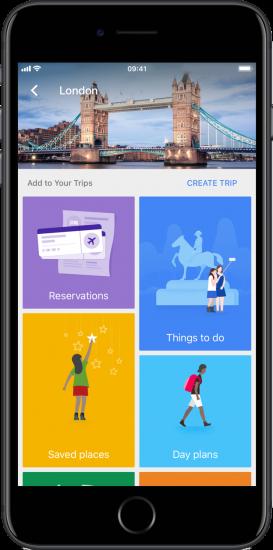GoogleTrips helpt je je reis te plannen