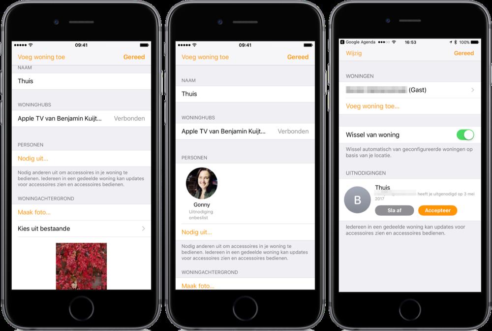 Woning-app van HomeKit toegang voor andere.