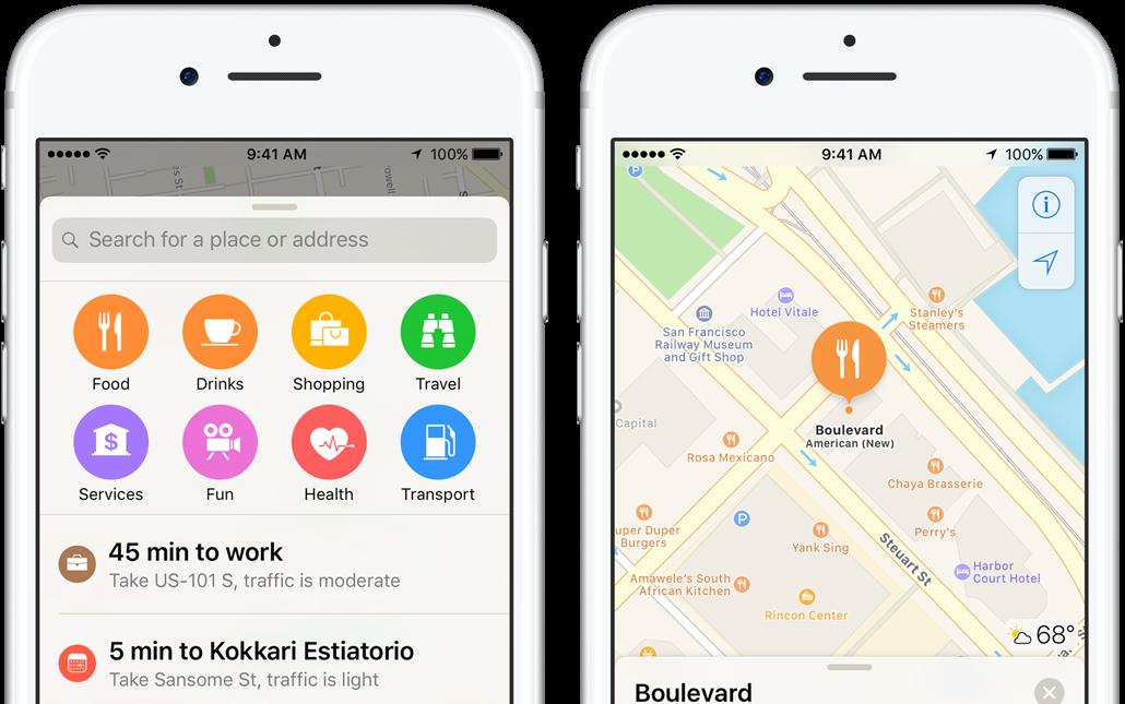 Kaarten op de iPhone met Dichtbij.