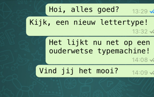 Ander lettertype in WhatsApp.