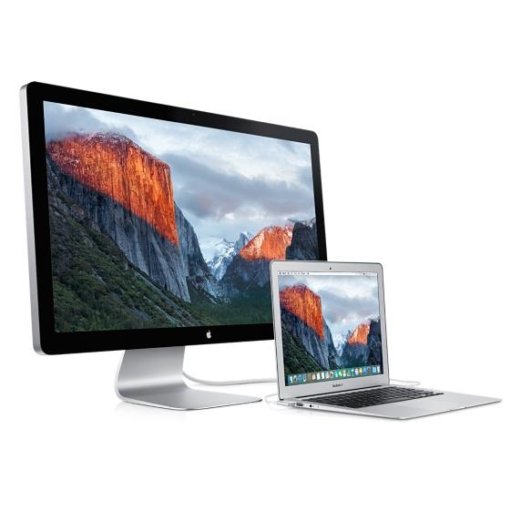Thunderbolt Display met aangesloten MacBook