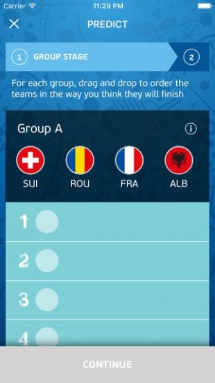 UEFA EURO 2016 Predictor.