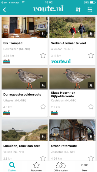 Route.nl gevonden routes