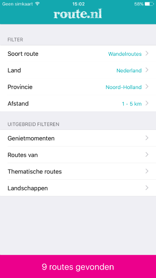 Route.nl extra opties