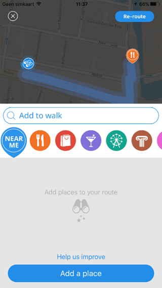 Sidekix: locatie toevoegen tijdens wandeling