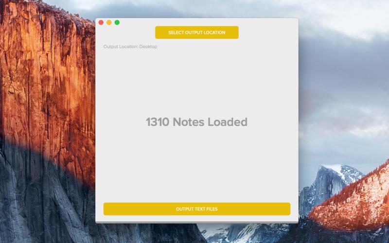 Note2txt app voor Mac