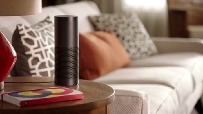 Amazon Echo in woonkamer