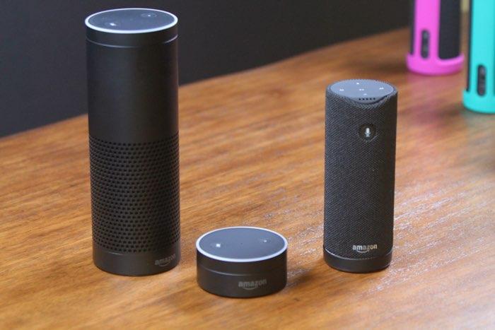 Amazon Echo, Tap en Dot, drie producten die met Alexa werken
