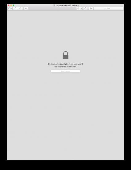 Een beveiligd PDF-bestand openen.