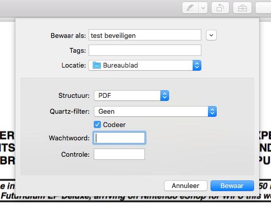Een PDF-bestand coderen met een wachtwoord.