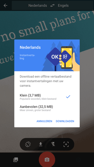 Google Translate-app: offline vertalen
