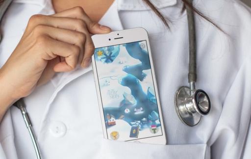 Sea Hero Quest met een dokter.